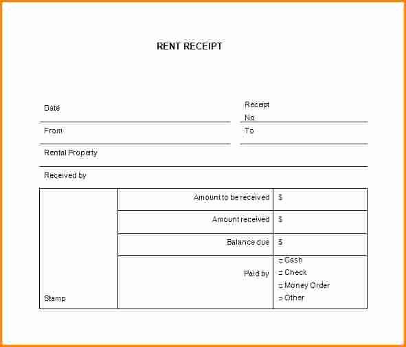 Motel 6 Receipt Template Awesome 7 Rent Receipt Book Template Free