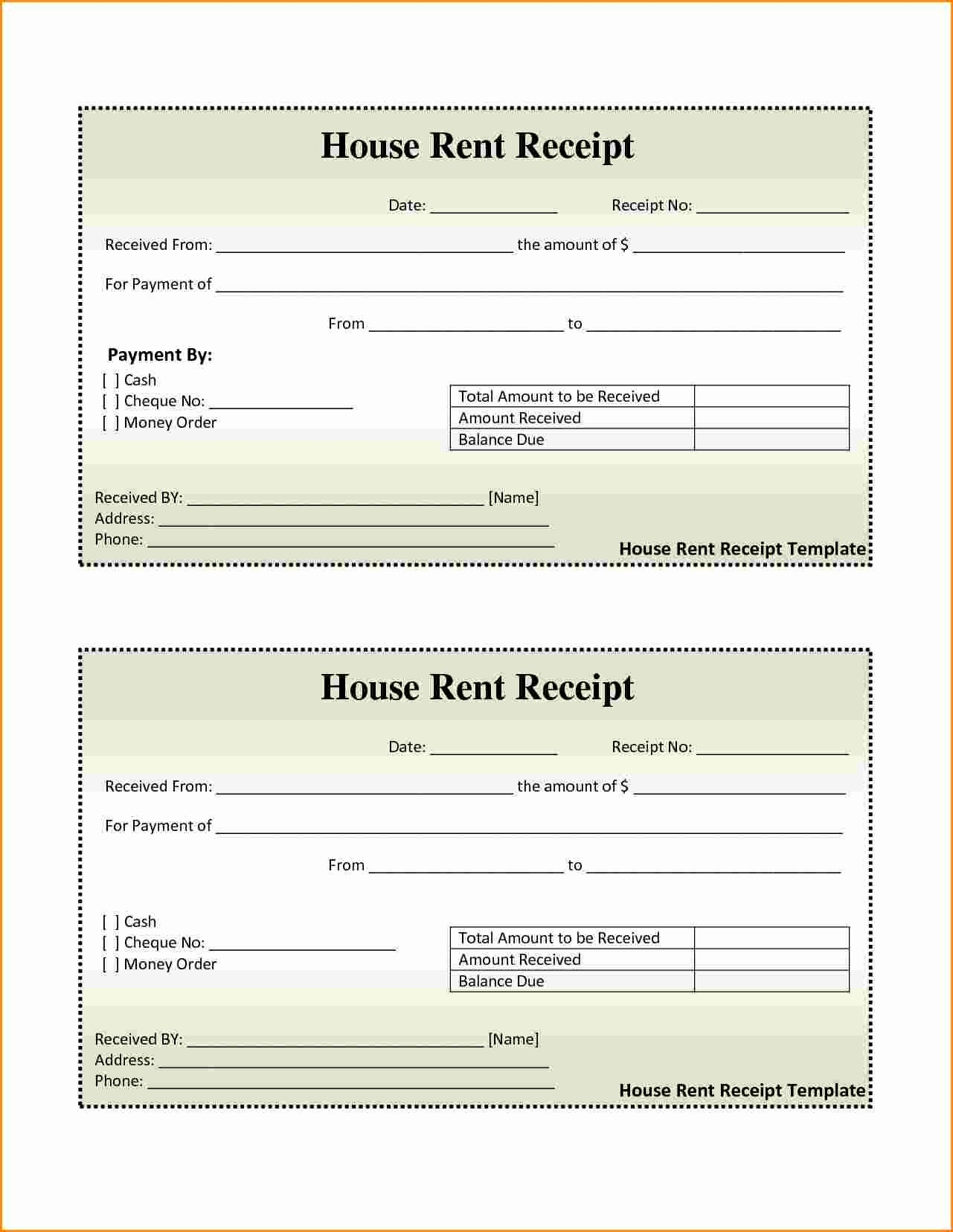 Motel 6 Receipt Template Best Of 7 Rent Receipt Book Template Free