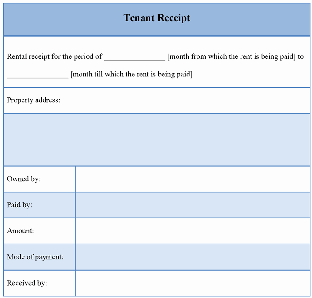 Motel 6 Receipt Template Lovely Receipt Template for Tenant Example Of Tenant Receipt