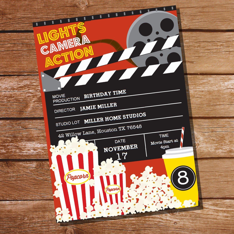 Movie Ticket Birthday Invitation Elegant Movie Party Invitation Movie Ticket Invitation Instant