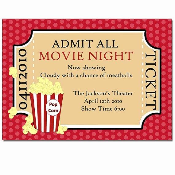 Movie Ticket Birthday Invitation Fresh Movie Ticket Invitation Party Ideas Pinterest