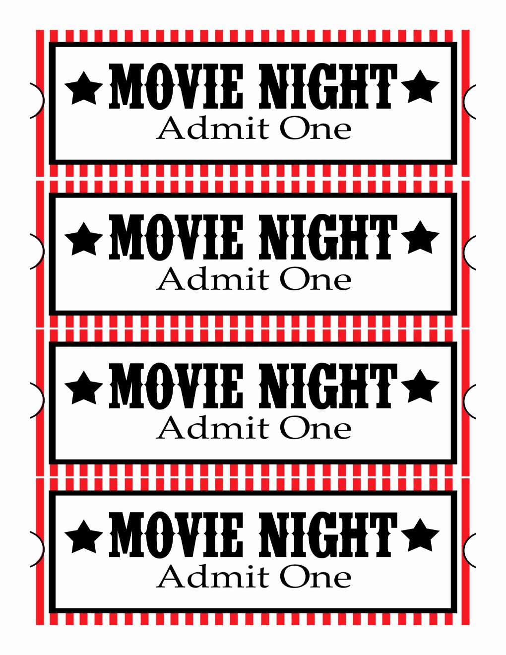 Movie Ticket Template Word Beautiful Sweet Daisy Designs Free Printables Home Movie theatre Night