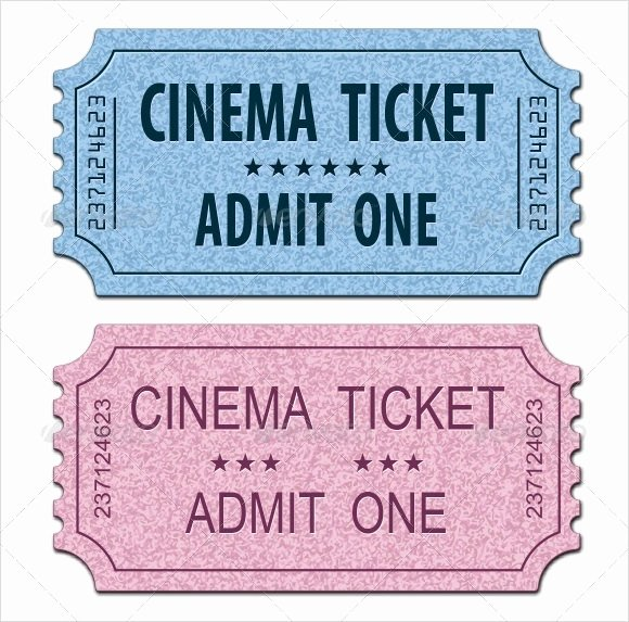 Movie Ticket Template Word Inspirational 33 Sample Amazing Movie Ticket Templates Psd Ai Word