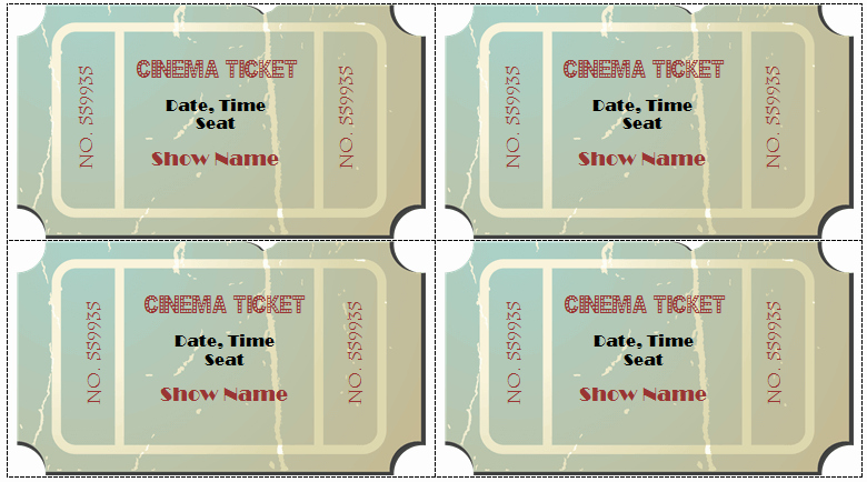 Movie Ticket Template Word Unique 6 Movie Ticket Templates to Design Customized Tickets