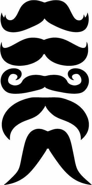 Mustache Cut Out Templates Beautiful Pinterest • the World's Catalog Of Ideas
