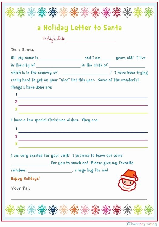 My Favorite Things List Template Awesome 20 Free Printable Letters to Santa Templates Spaceships