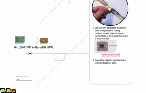 Nano Sim to Micro Sim Template Luxury Cut Your Own Nano Sim for iPhone 5 Visihow