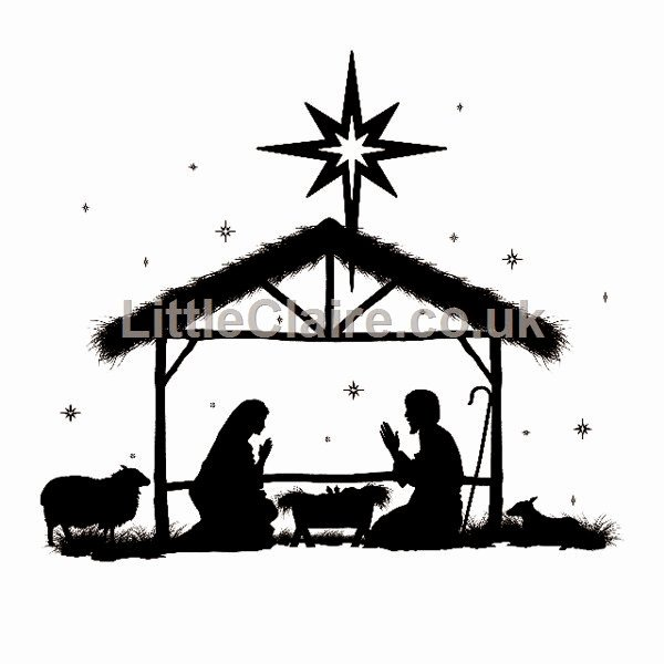 Nativity Scene Silhouette Pattern Free Awesome Little Claire S Designs Little Claire Likes Monday
