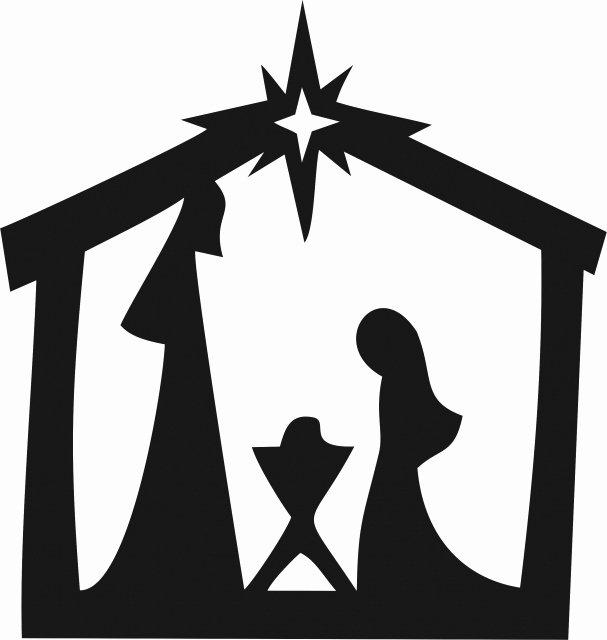 Nativity Scene Silhouette Pattern Free Beautiful Nativity Scene Silhouette Laser Cut
