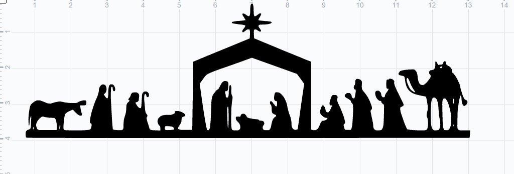 Nativity Scene Silhouette Pattern Free Inspirational Nativity Scene Svg Eps Dxf Studio3 Cut File From