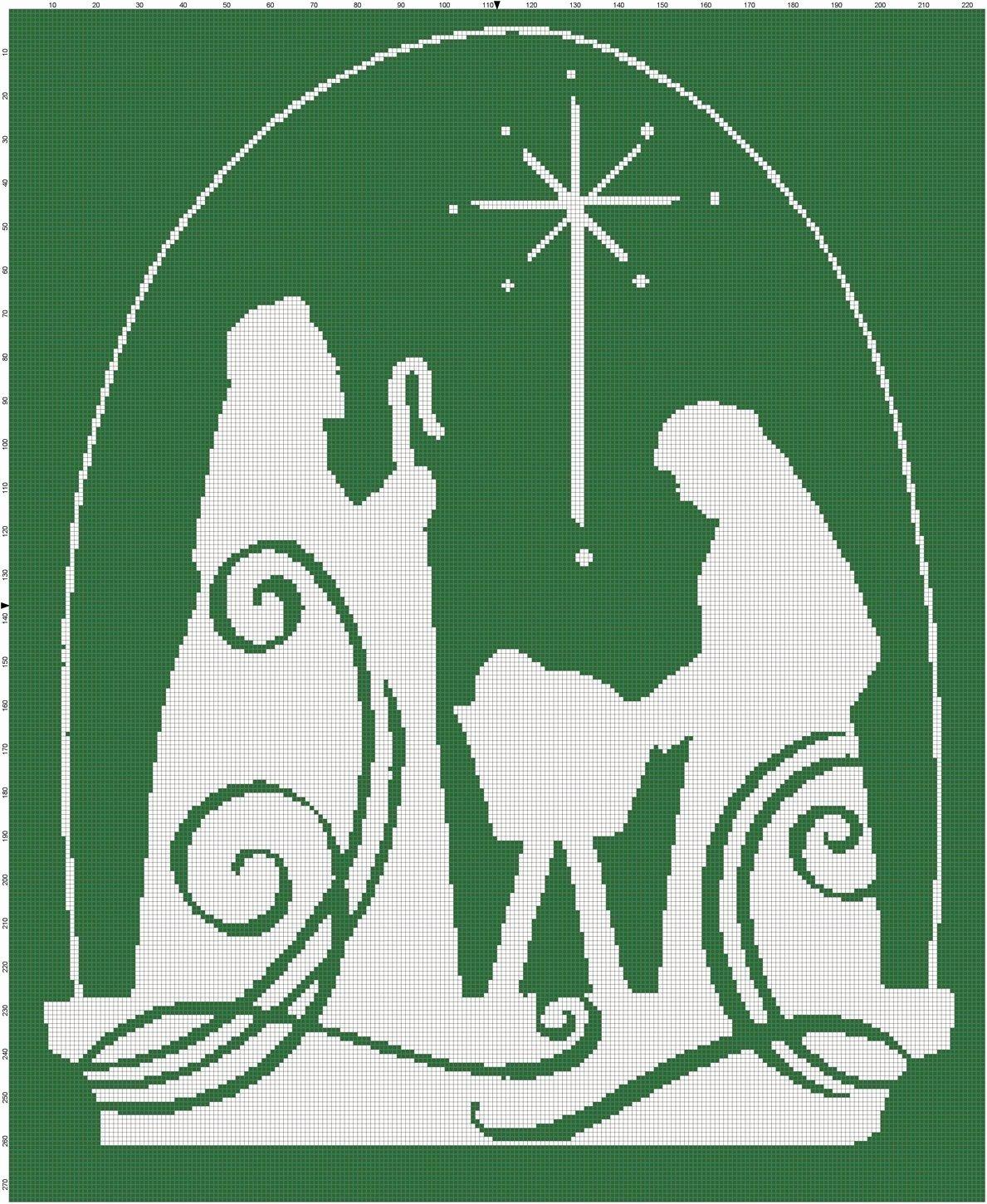 Nativity Scene Silhouette Pattern Free Lovely Christmas Jesus Nativity Scene Cross Stitch Pattern
