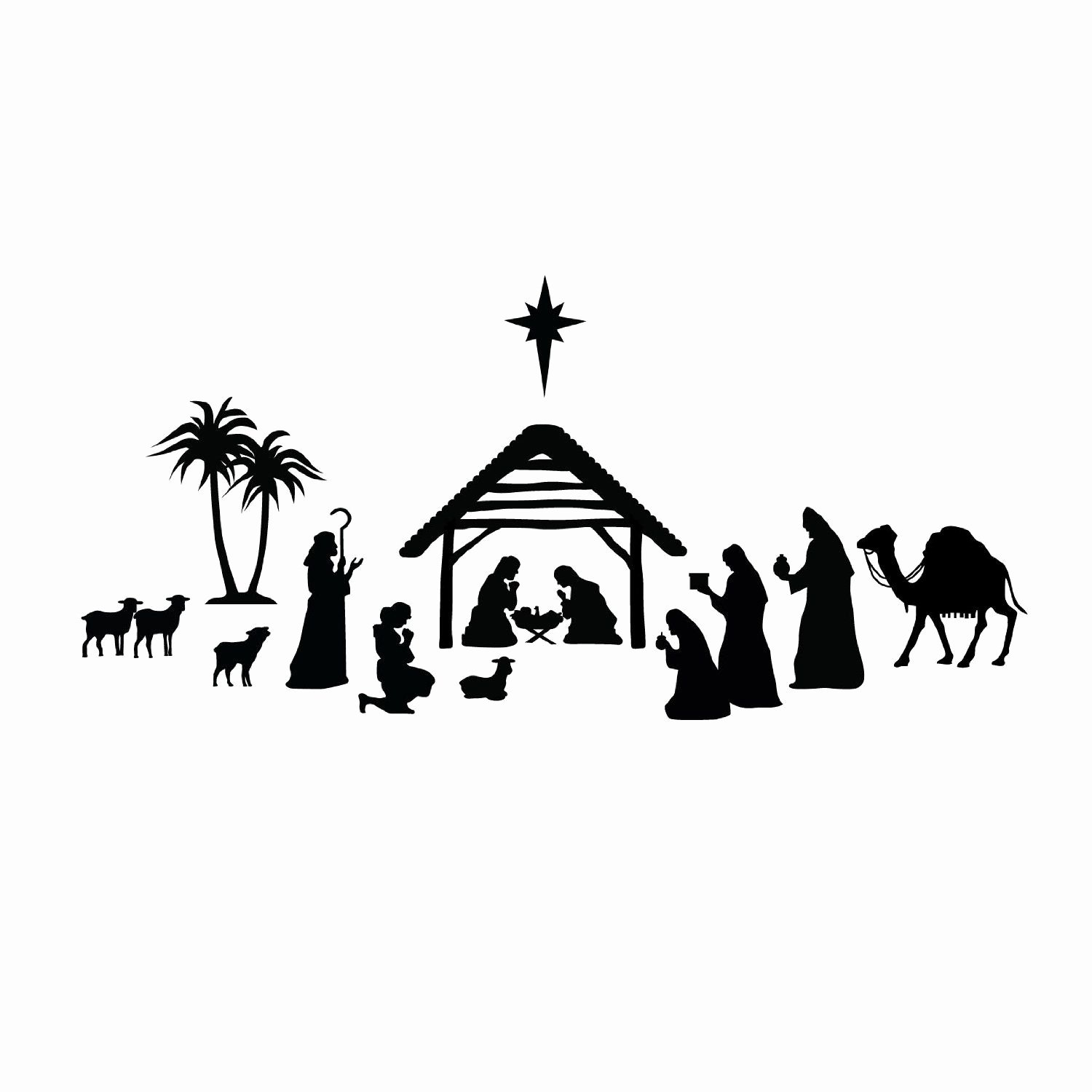 Nativity Scene Silhouette Pattern Free Lovely Related Image Neat Diy Christmas Gifts
