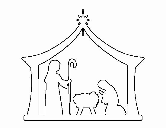 Nativity Scene Silhouette Pattern Free Luxury Nativity Pattern Use the Printable Outline for Crafts