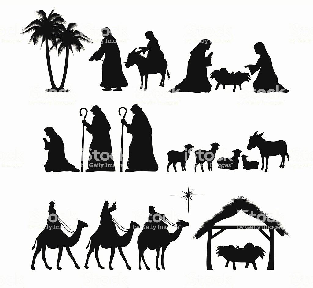 Nativity Scene Silhouette Pattern Free Luxury Nativity Silhouette Stock Vector Art & More Of