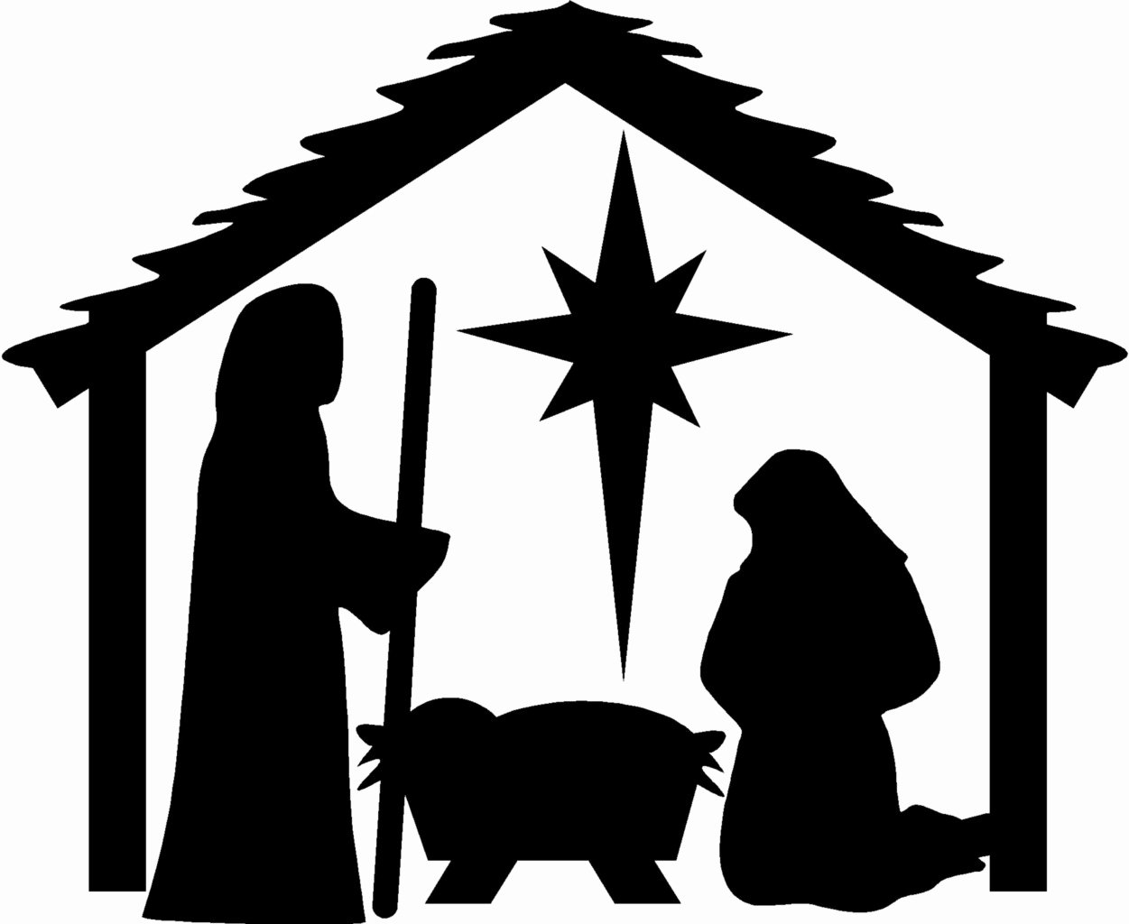 Nativity Scene Silhouette Printable Awesome Nativity Christmas Wall Stickers Vinyl Decal Decor Art