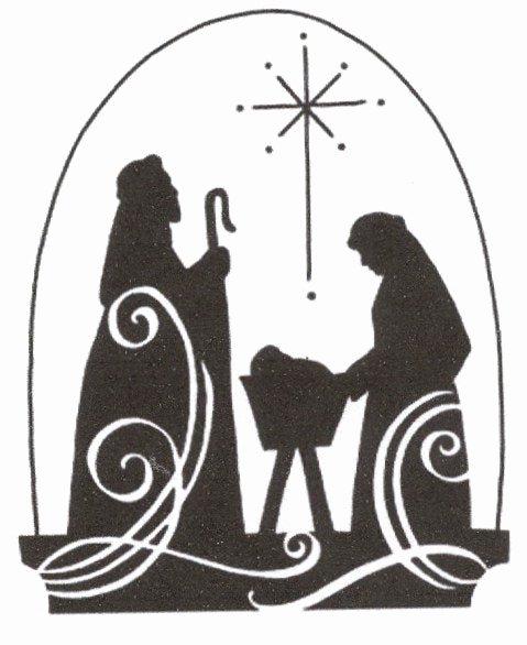 Nativity Scene Silhouette Printable New Christmas Jesus Nativity Scene Cross Stitch Pattern