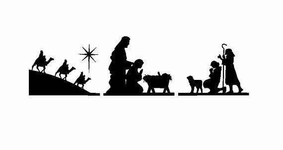 Nativity Scene Silhouette Printable New Ginger Snap Crafts Nativity Vinyl