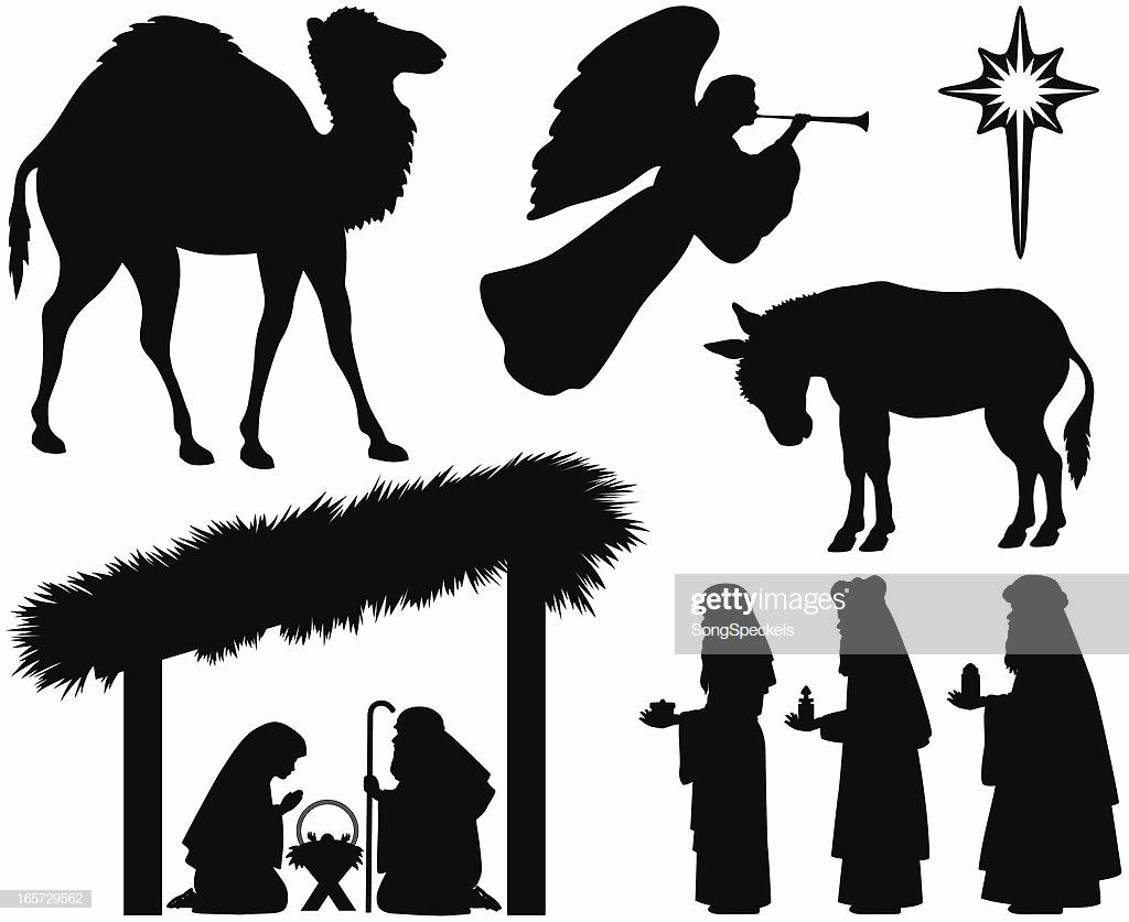 Nativity Silhouette Printable Best Of Nativity Silhouettes Vector Art