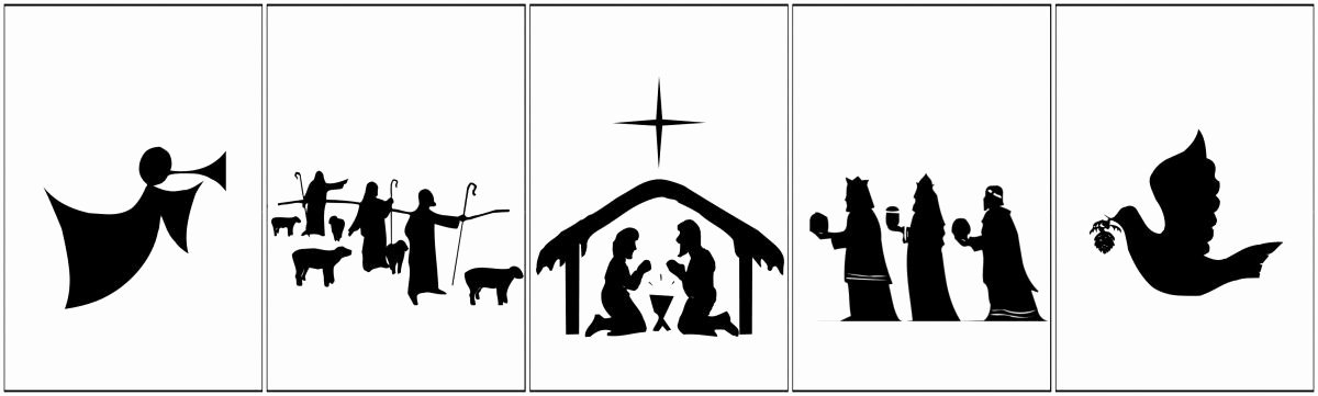 Nativity Silhouette Printable Fresh Free Printable Nativity Banner