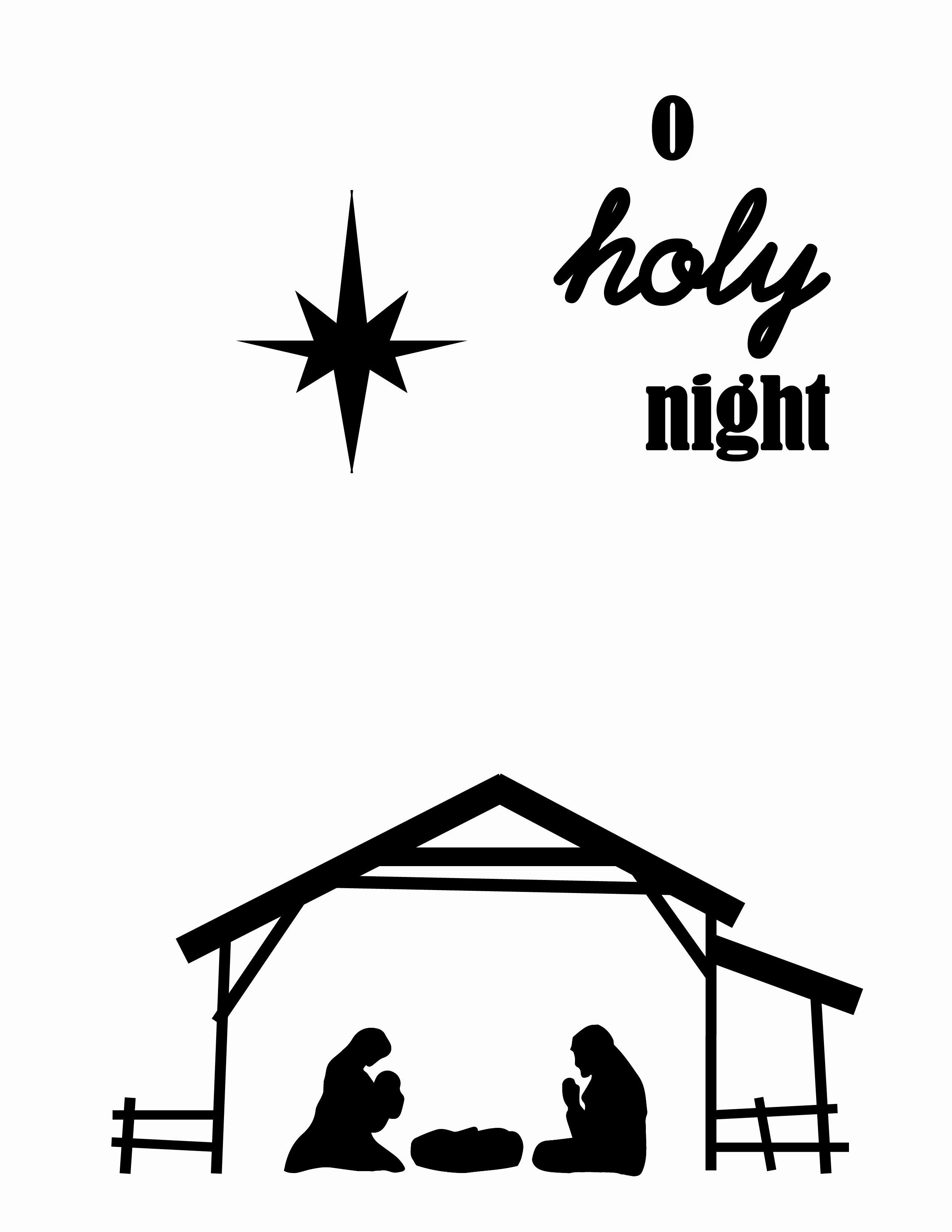 Nativity Silhouette Printable Inspirational O Holy Night Christmas Wall Art Printable Craft Remedy