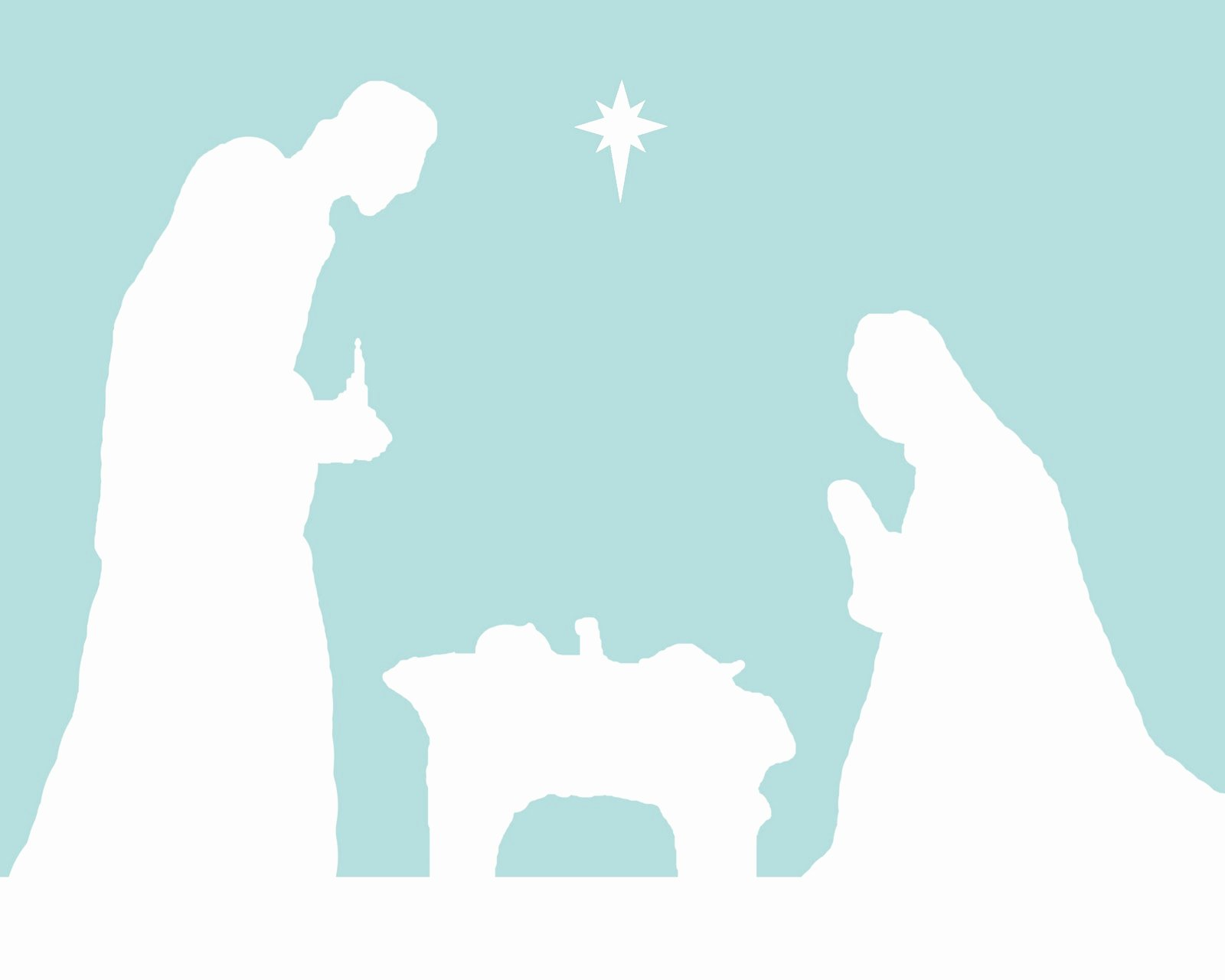 Nativity Silhouette Printable Inspirational Peace In the Pandemonium December 2010