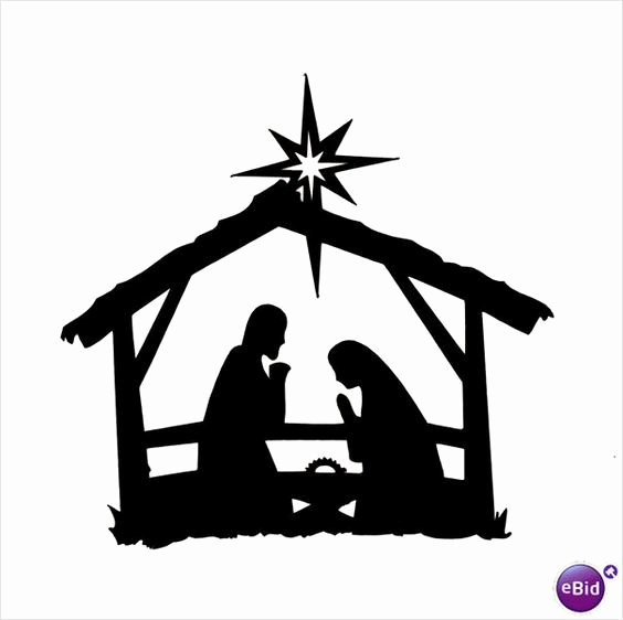 """Nativity Silhouette Printable New 10 X """"stable Nativity"""" Silhouette Christmas Die Cuts In"""