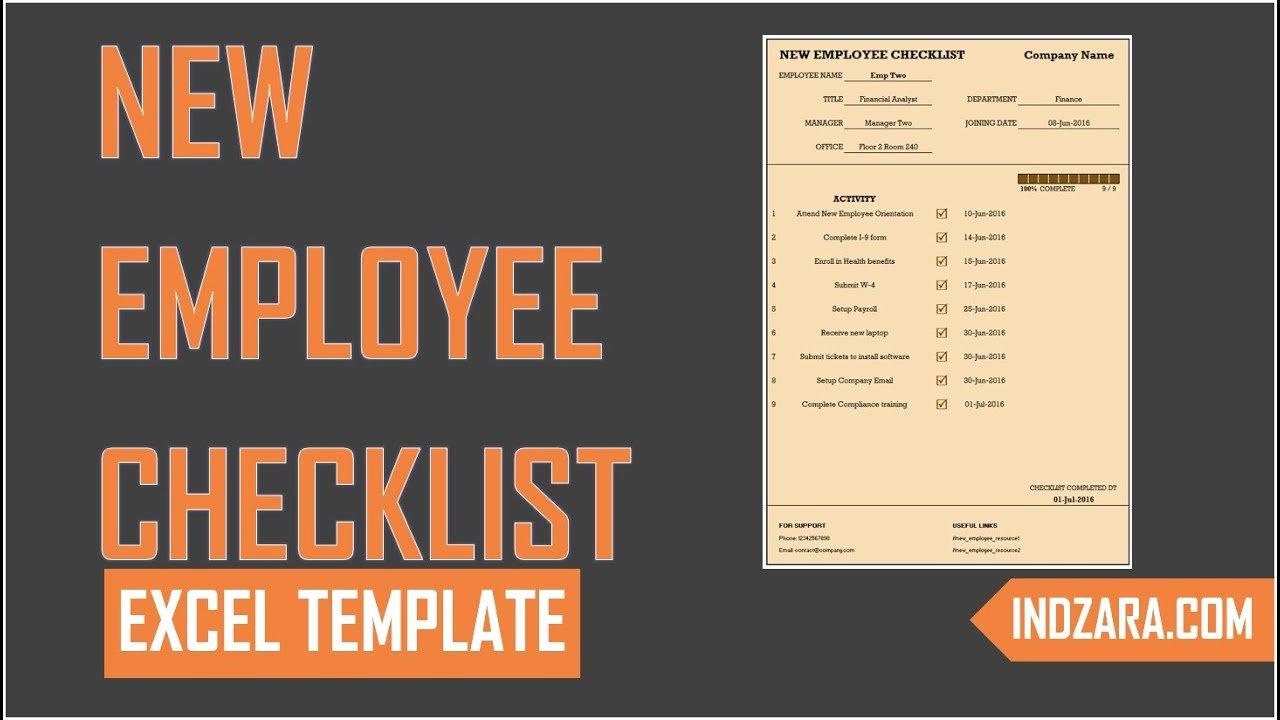 New Employee Checklist Template Excel Elegant New Employee Checklist Free Excel Template tour