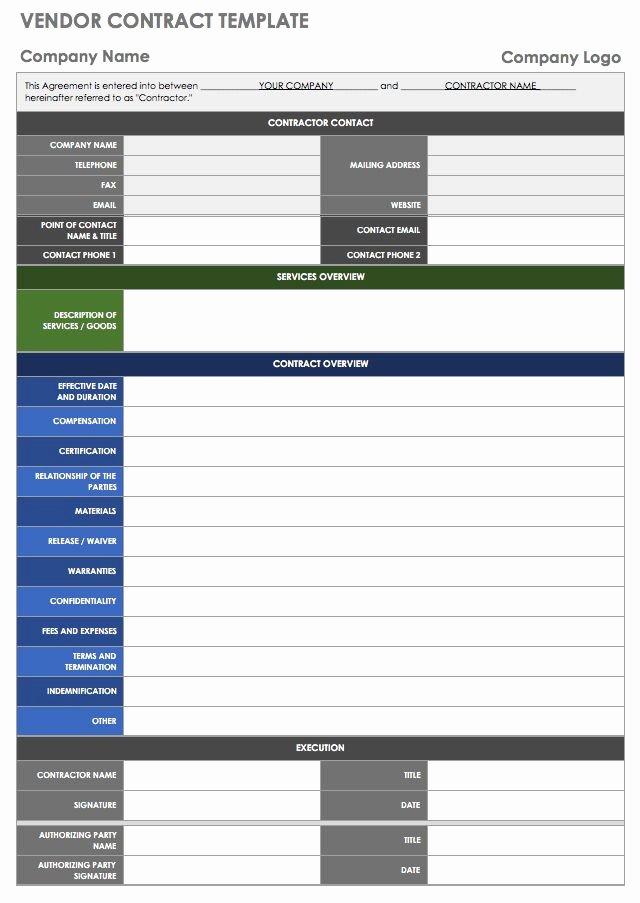 New Vendor Setup form Excel Template Awesome 13 Free Vendor Templates