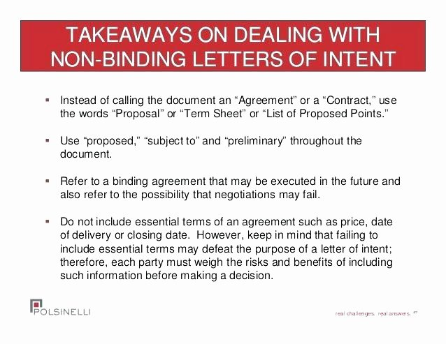 Non Binding Letter Of Intent to Lease Template Luxury Non Binding Fer Vs Letter Intent