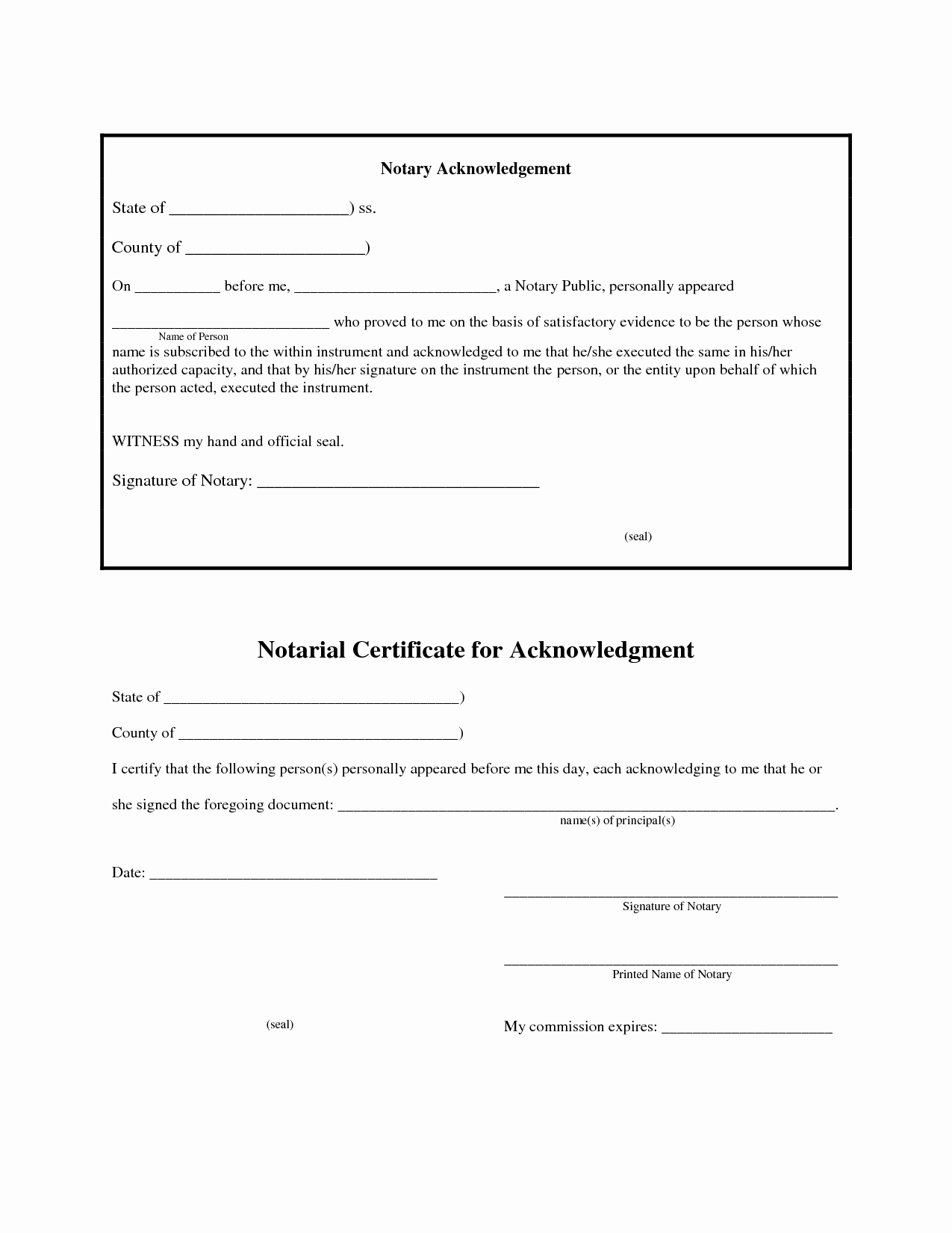 Notary Public Signature Line Template Elegant 12 Best S Of Jurat form 2012 Florida Notary