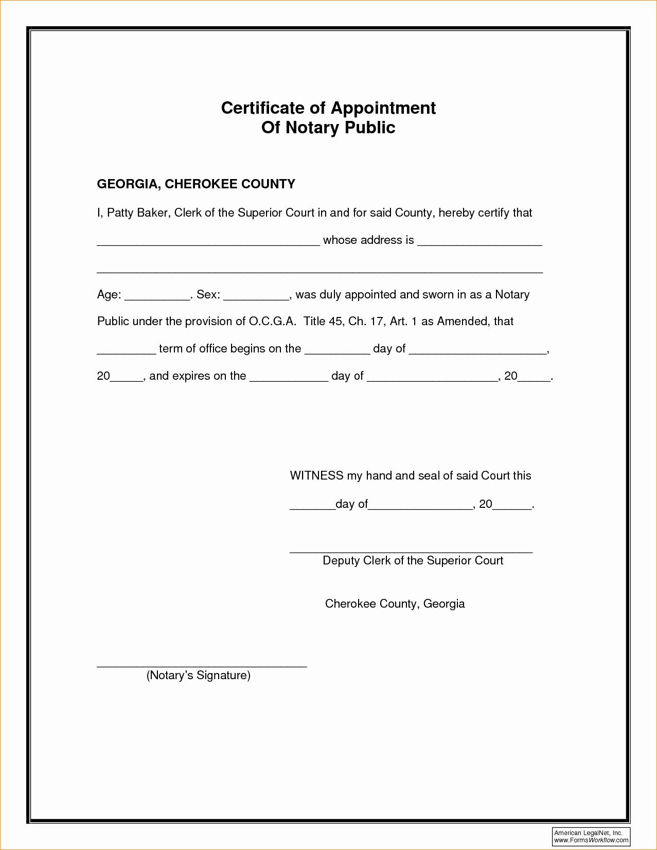 Notary Public Signature Line Template Elegant 27 Of Notary Signature Template