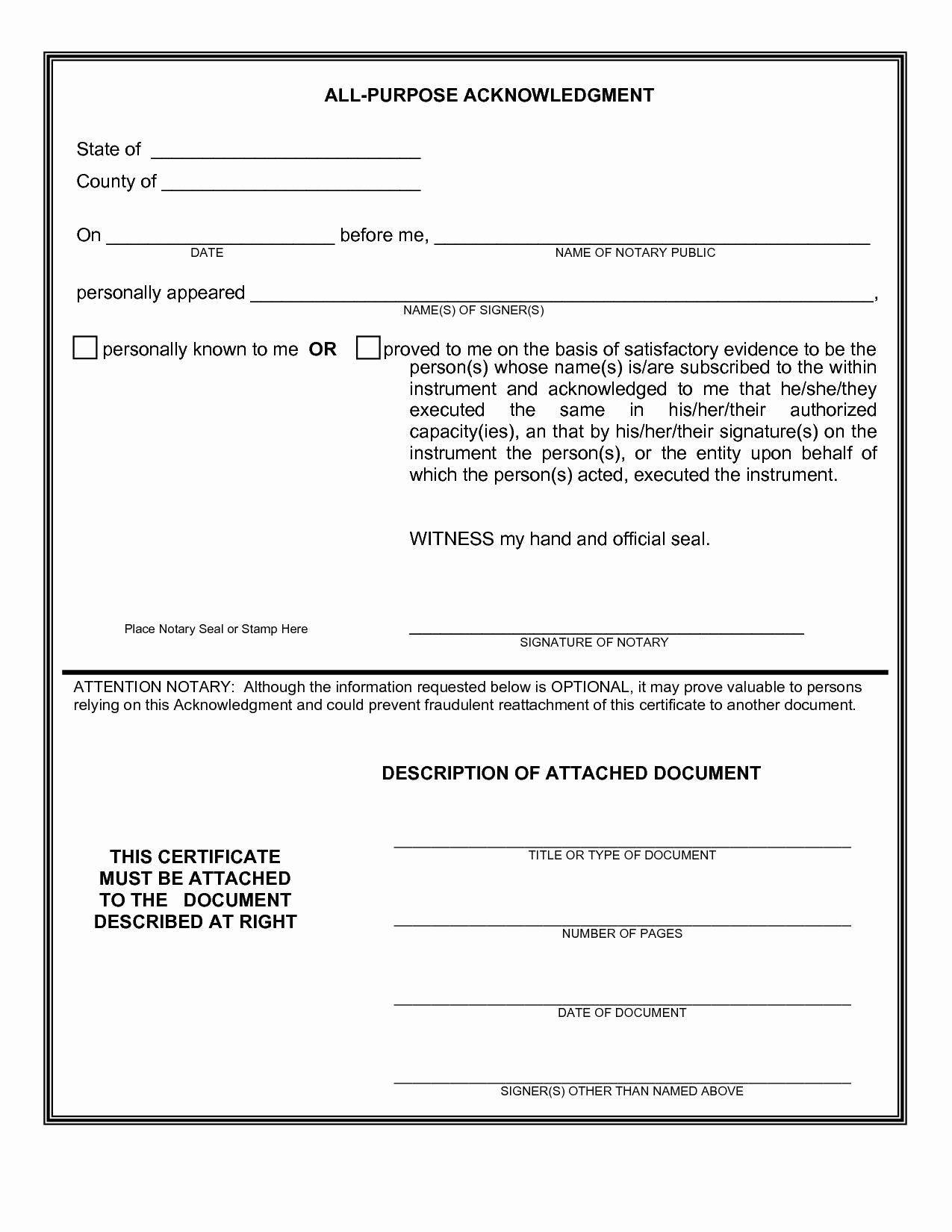 Notary Public Signature Line Template Inspirational Notary Affidavit Examples Public Statement Sample Virginia