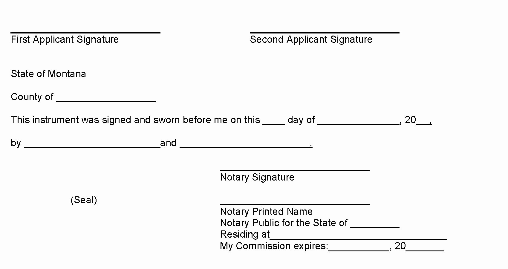 Notary Public Signature Line Template Lovely Missoula Mt Ficial Website