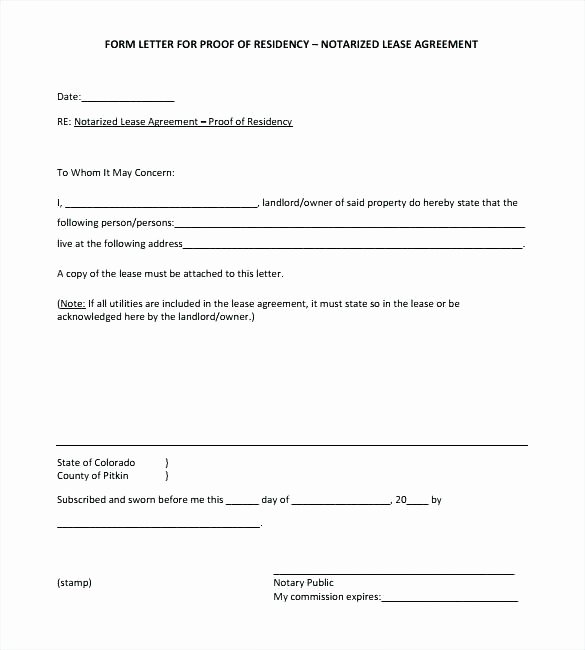 Notary Public Signature Line Template Luxury Notary Public Proof Residency