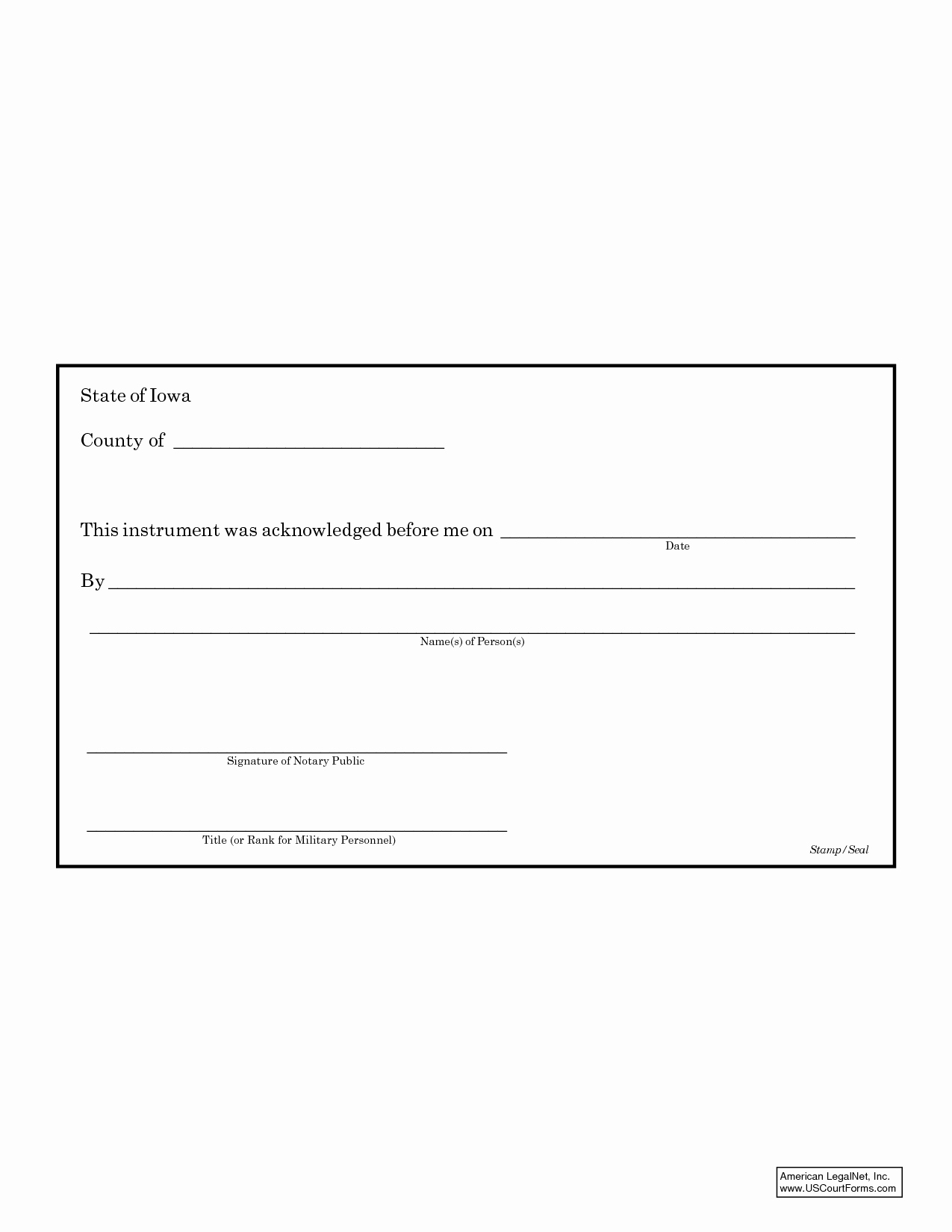 post north carolina notary statement template
