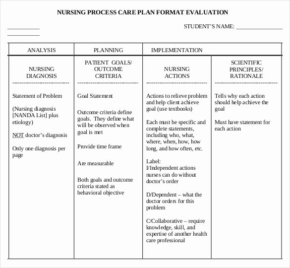 Nursing Education Plan Template Elegant Nursing Care Plan Templates 20 Free Word Excel Pdf