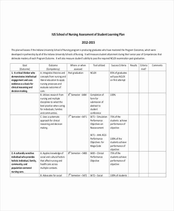 Nursing Education Plan Template Fresh 9 Learning Plan Examples Samples