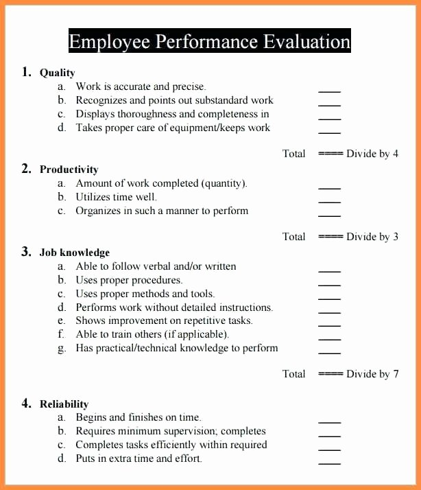 Nursing Peer Review Template Awesome Annual Performance Review Employee Self Evaluation