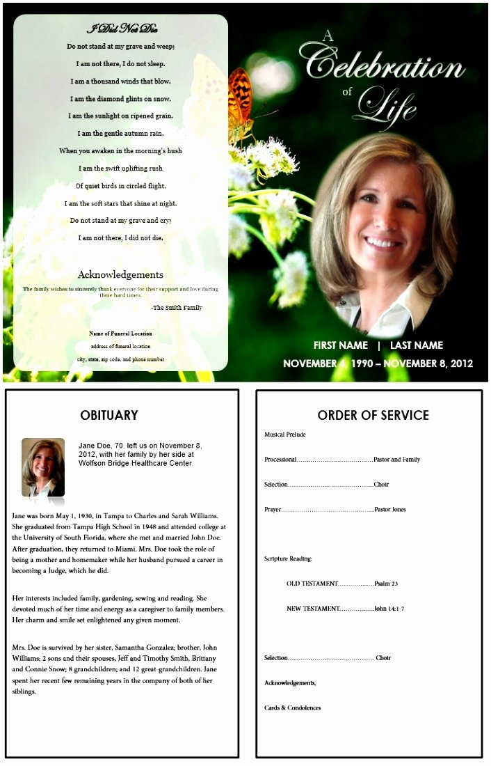 Obituary Templates Free Downloads Inspirational 10 Obituary Template Microsoft Word Free Download Teupt