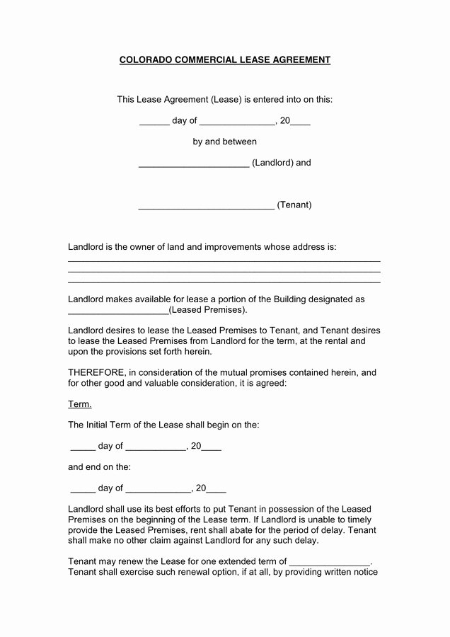 1 page rental agreement form last mercial lease agreement in word and pdf formats qi d