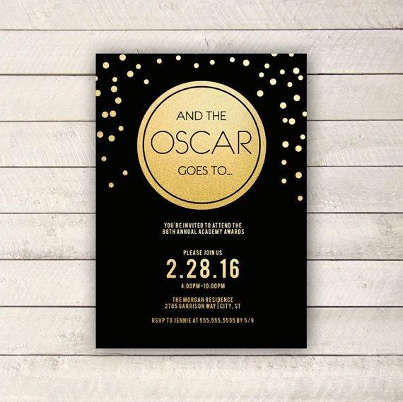 Oscar Invitation Templates Awesome Best 25 Oscar themed Parties Ideas On Pinterest