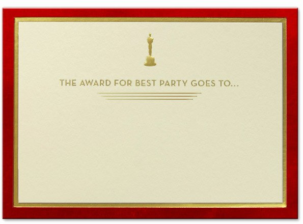 Oscar Invitation Templates Beautiful and the Oscar Goes to Nine Awesome and Ficial