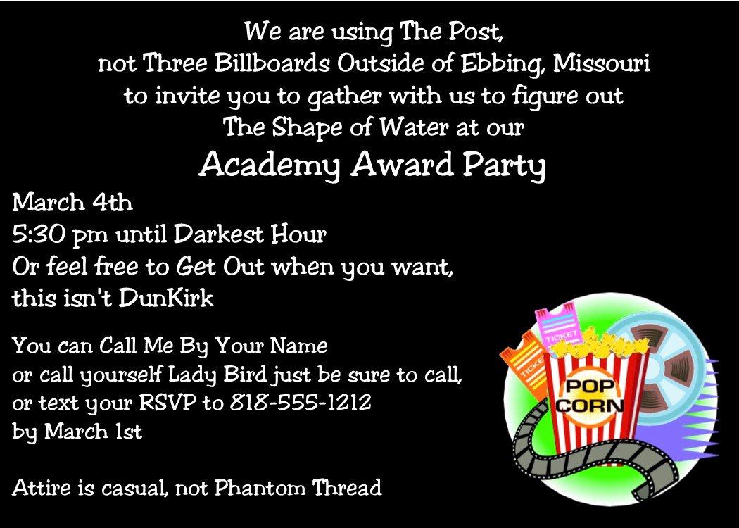 Oscar Invitation Templates Fresh Academy Awards Party Invitations and Oscar Invitations New