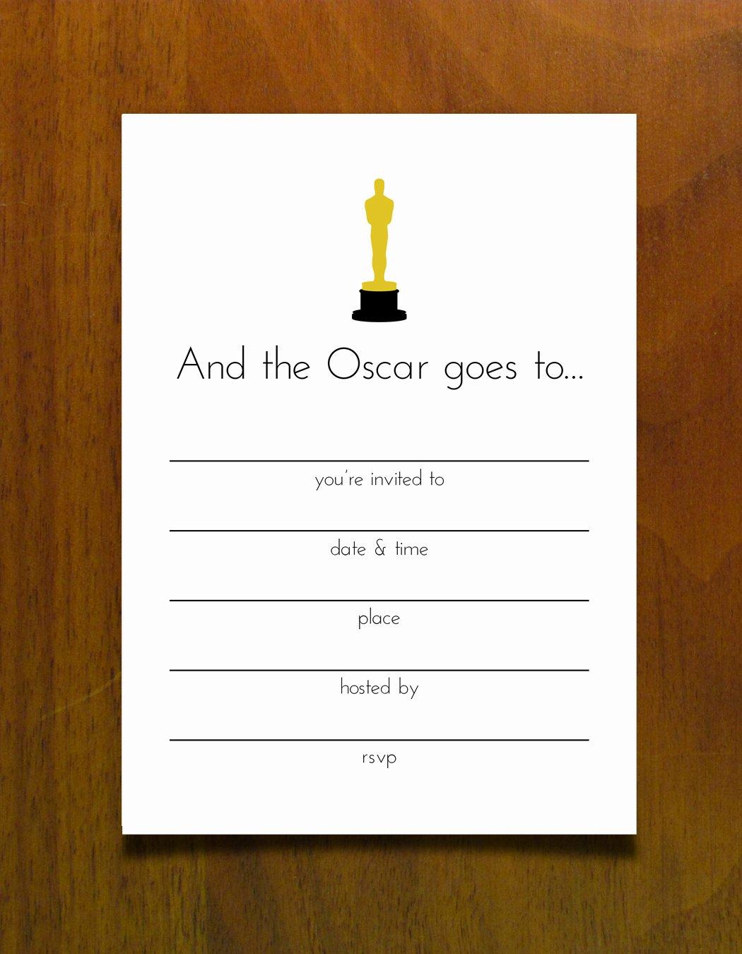 Oscar Invitation Templates Inspirational Oscar Invitation Templates