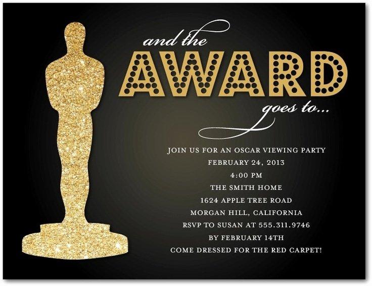 Oscar Invitation Templates Luxury 17 Best Images About Oscar Party On Pinterest