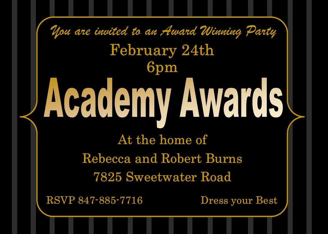Oscar Invitation Templates Luxury Academy Awards Party Invitations and Oscar Invitations New