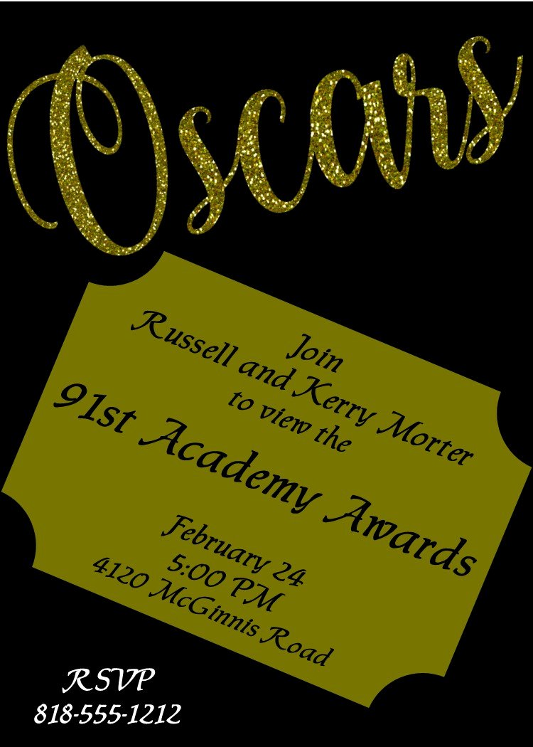 Oscar Invitation Templates New Academy Awards Party Invitations and Oscar Invitations New