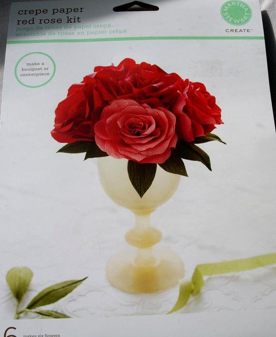Paper Flower Template Martha Stewart Luxury Crepe Paper Red Rose Flower Kit From Martha Stewart