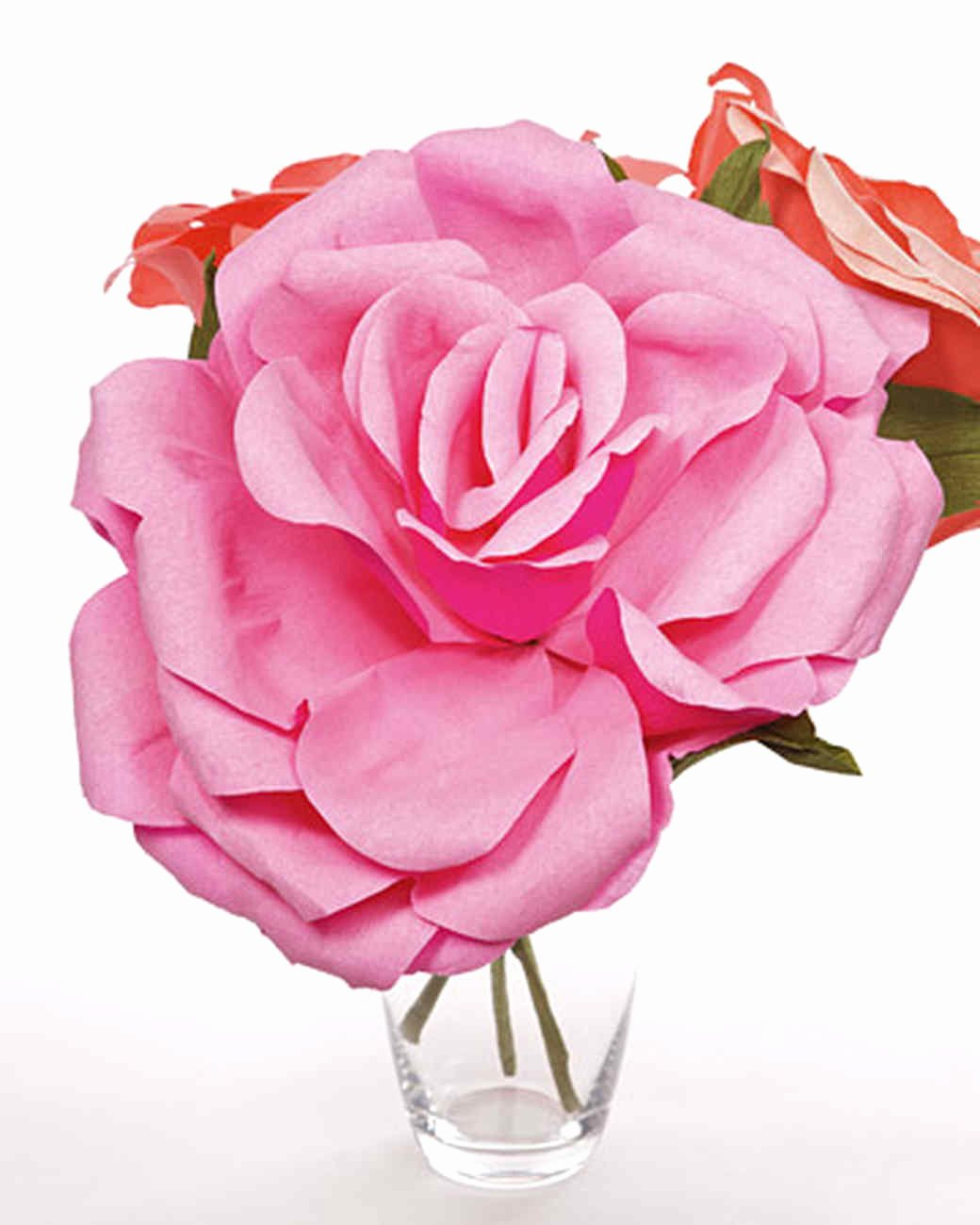 Paper Rose Template Martha Stewart Fresh Crepe Paper Roses & Video