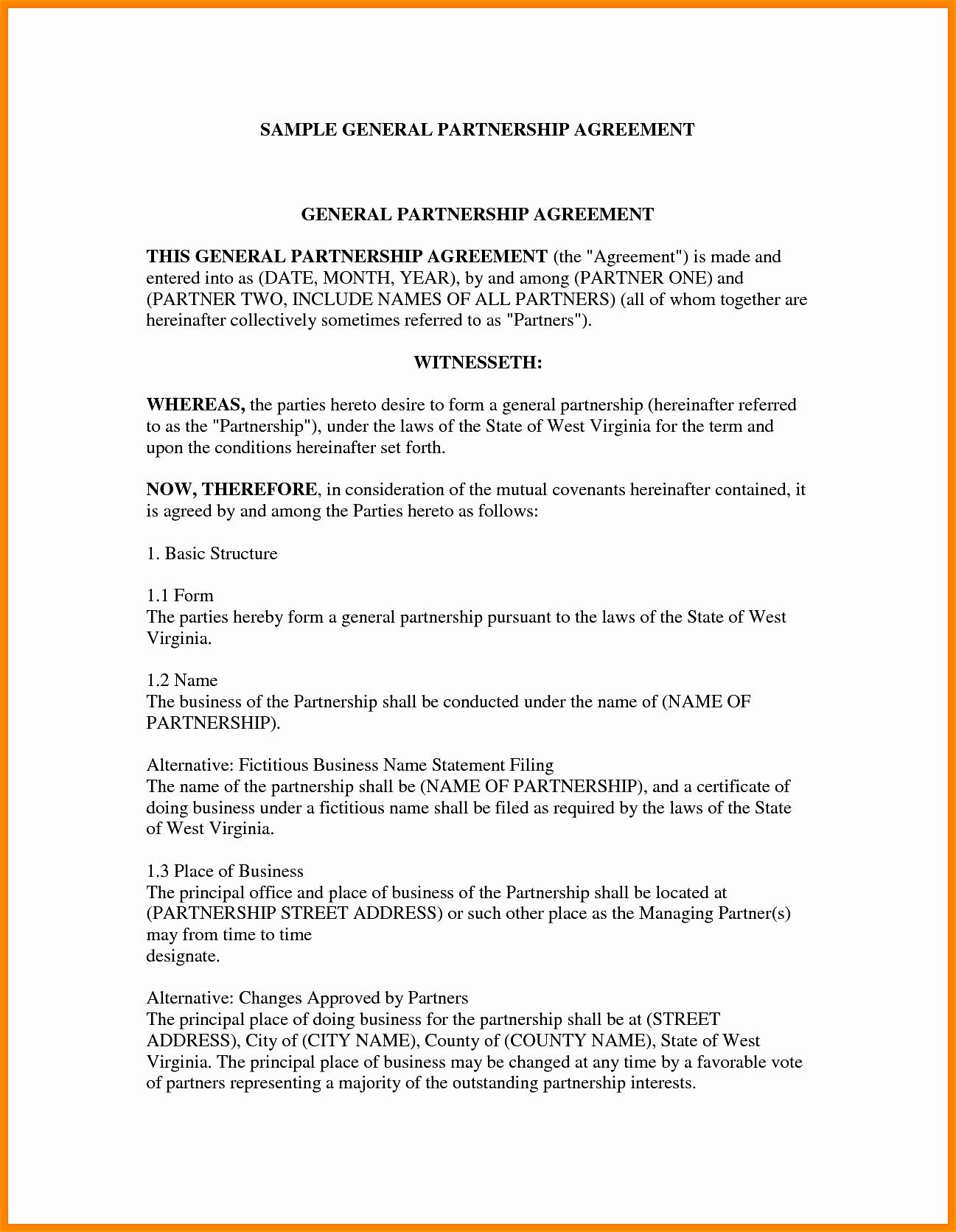 Partnership Letter Sample Elegant Business Partner Contract Mughals